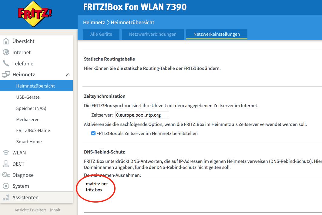 fritzbox zertifikat